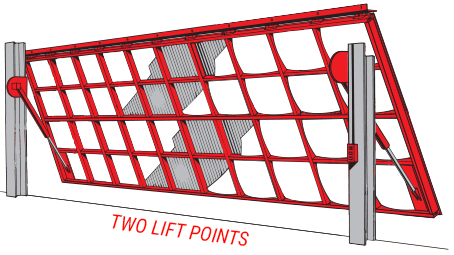 hydraulic door - two lift points