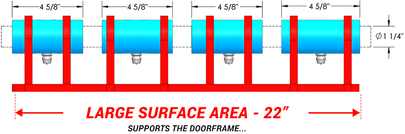 large Surface Area Hinge