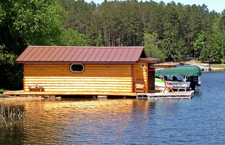 Log Boathouse Door Applications
