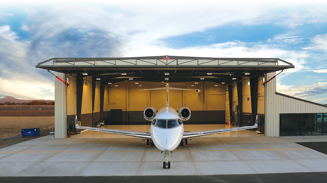 Schweiss Corporate Jet Hangar Doors